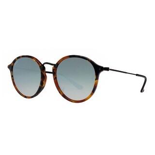 Ray Ban RB2447-F 1157/9U 52mm Tortoise Brown Silver Flash Round Fleck Sunglasses - tortoise brown/black - 52mm-21mm-145mm