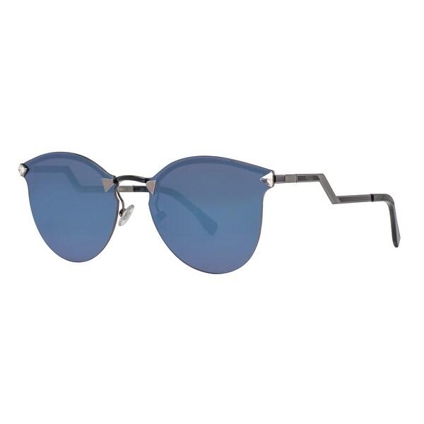 ddd312d93351e Fendi FF 0040 S LQJ XT Rimless Black Blue Mirror Cat Eye Women  x27