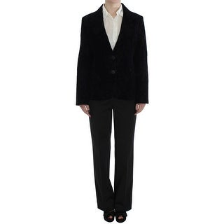 BENCIVENGA Black Lace Stretch Suit - L