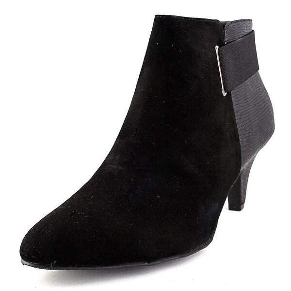Alfani Vandela Women Pointed Toe Suede Black Bootie