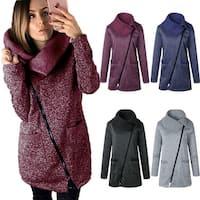 Zip Up Coat Warm Pocket Jacket