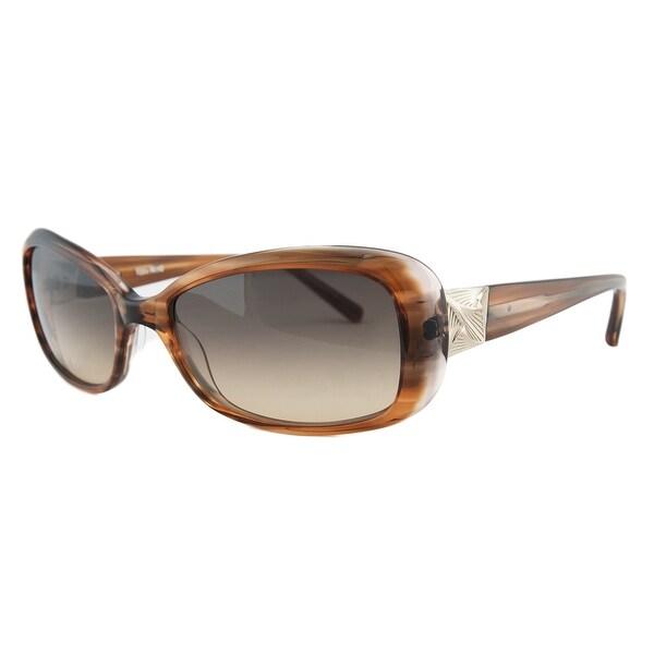 Vera Wang V277 BROWN Brown Rectangular Sunglasses - 55-17-135