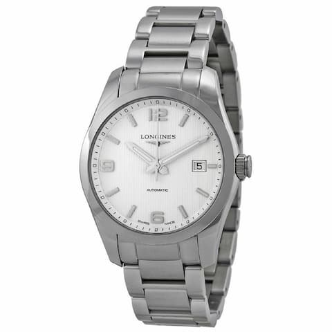 Longines Men's L27854766 'Conquest' Stainless Steel Watch - Silver