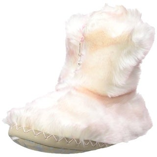 Bedroom Athletics Womens Cole Faux Fur Ankle Bootie Slippers - M