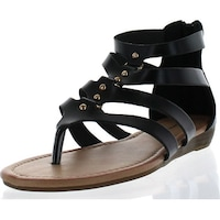4df06c087ec6fb Sunny Day Avia-22 Women s Stud Gladiator Strappy Back Zip Low Wedge Sandals