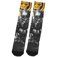 Marvel Black Panther Character And Logo Sublimated Crew Socks