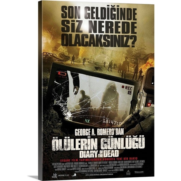 """""""Diary of the Dead - Movie Poster - Turkish"""" Canvas Wall Art"""