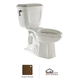 "Rohl U.KIT133 Victorian 1.6GPF Elongated Toilet with 12"" Rough In and Flush Leve - polished nickel"