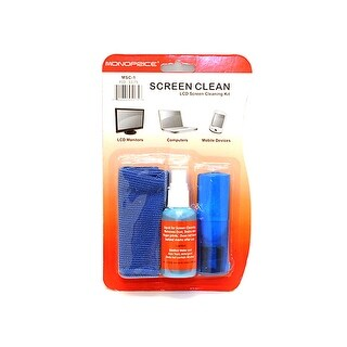 MonopriceUniversal Screen Cleaner (Pocket-sized with Brush) for LCD & Plasmas TV, all iPad, iPhone, Galaxy Tabs, and Smartphones