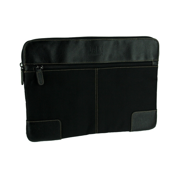 Jill-E Designs Brixton 15 Inch Nylon Laptop Sleeve With Leather Trim