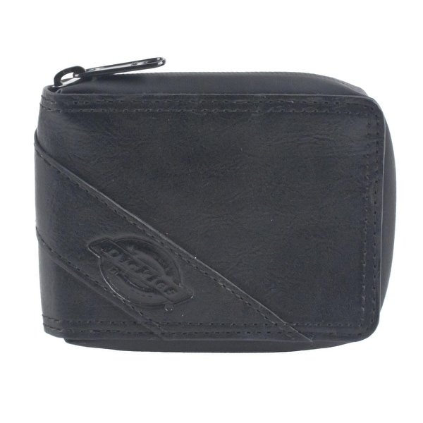 Dickies Men's Leather Slimfold Zip-Around Wallet - One size