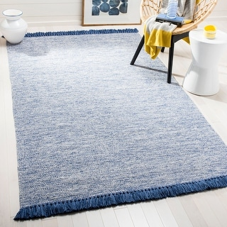 Link to Safavieh Handmade Flatweave Montauk Chayah Casual Cotton Rug with Fringe Similar Items in Patterned Rugs