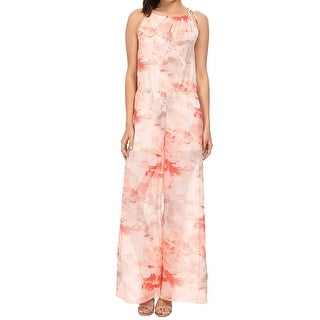 Tommy Bahama NEW Pink Women's Size 6 Printed Jumpsuit Silk
