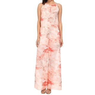 Tommy Bahama NEW Pink Women's Size 8 Printed Jumpsuit Silk