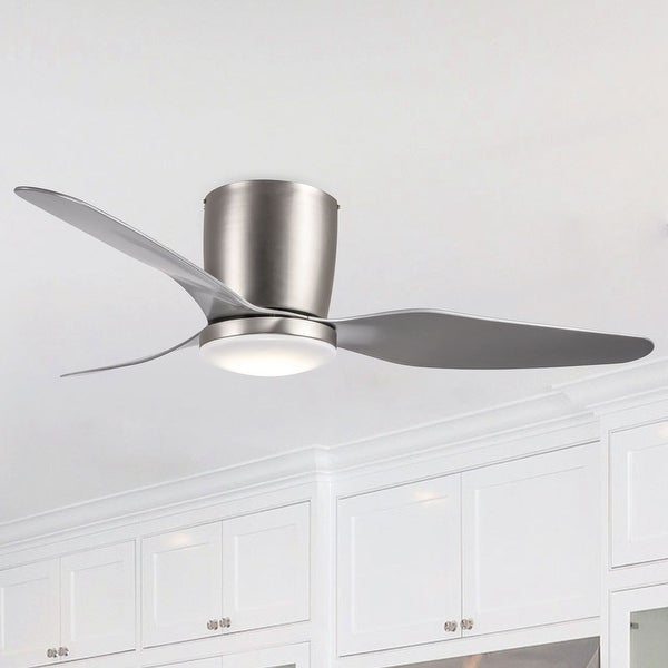 Shop 46 Inch Stain Nickel 3 Blades Low Profile Ceiling Fan