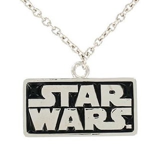 "Star Wars Logo Necklace Pendant 18"" Chain"