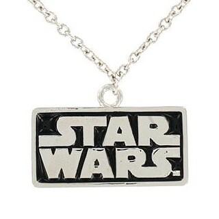 "Star Wars Logo Necklace Pendant 18"" Chain - Silver"