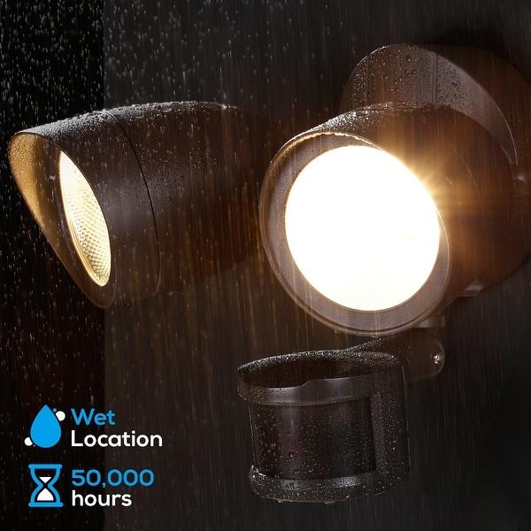 Dual-Head LED Motion Sensor Security Light, UL & ES. Opens flyout.