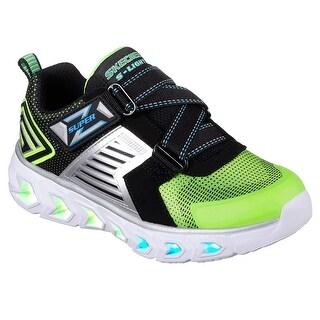 Skechers Kids Boys' Hypno-Flash 2.0-90587L Sneaker,Lime/Black,3 M Us Little Kid