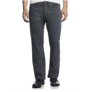 Silver Jean Co Mens Zac Relaxed Fit Straight Leg 33/32 Grey Pants