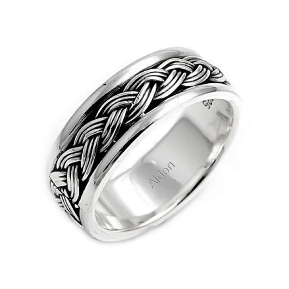 USA Seller Textured Ring Sterling Silver 925 Plain Best Price Jewelry Selectable