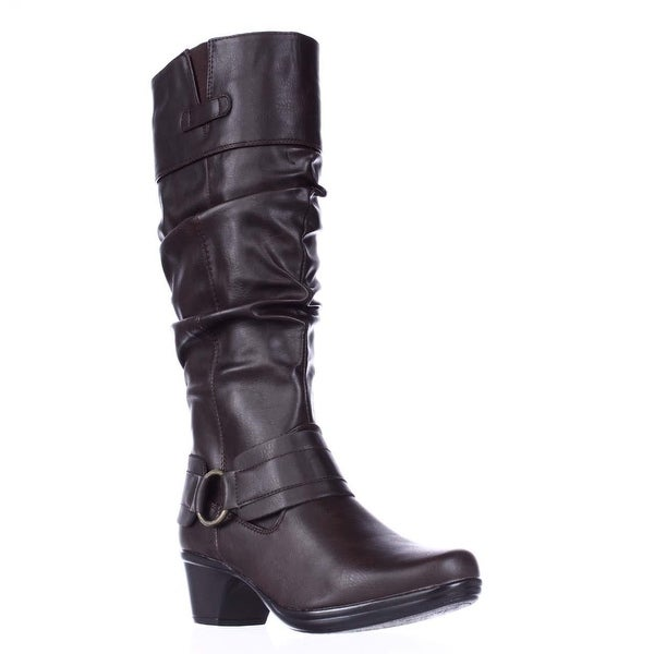 Easy Street Jayda Mid Calf Slouch Boots, Brown