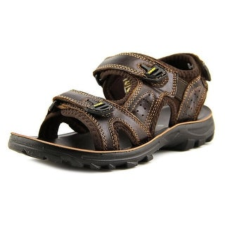 Spring Step Duffy Youth Open-Toe Leather Brown Slingback Sandal