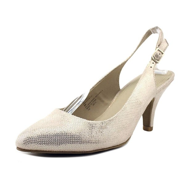 Rialto Mitzi Women Pointed Toe Canvas Gold Slingback Heel