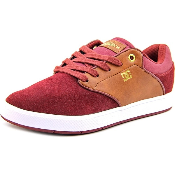 DC Shoes Mikey Taylor Men Round Toe Suede Burgundy Skate Shoe