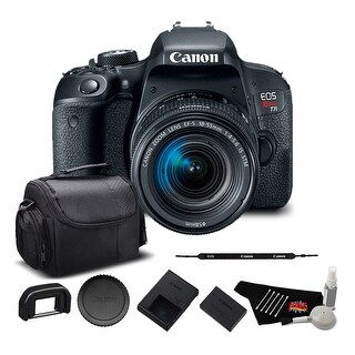 Canon EOS Rebel T7i DSLR Camera with 18-55mm Lens Bundle
