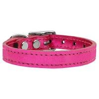Plain Metallic Leather Metallic Pink 18