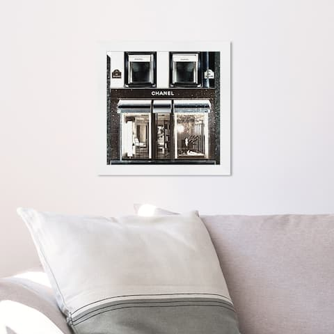 Oliver Gal 'My Favorite Store' Fashion and Glam Framed Wall Art Prints Lifestyle - Black, White