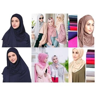 Women's Jersey hijab scarves fashion long plain scarf wrap shawls