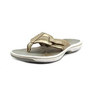 Clarks Brinkley Calm Open Toe Synthetic Thong Sandal