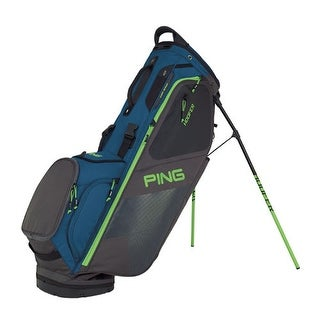 New Ping 2018 Hoofer Golf Stand Bag (Teal / Graphite / Green) - teal / graphite / green