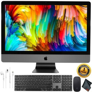 """Apple 27"""" iMac Pro with Retina 5K Display (Late 2017) (Space Gray) + Apple Earpods + 1 Year Extended Warranty"""