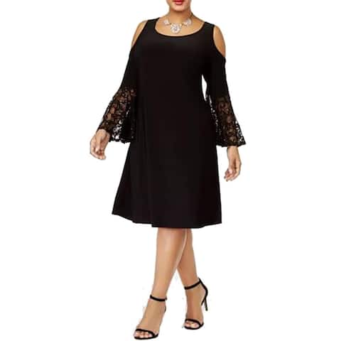 R & M Richards Women's Cold-Shoulder Dress
