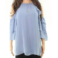 Parker Cold-Shoulder Women's Medium Keyhole Blouse
