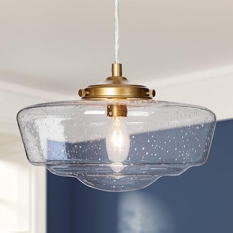Modern seeded glass pendant lighting antique gold hanging light for kitchen