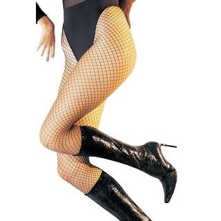 UA9003 Morris Costumes Fishnet Pantyhose Lycra Black,One Size