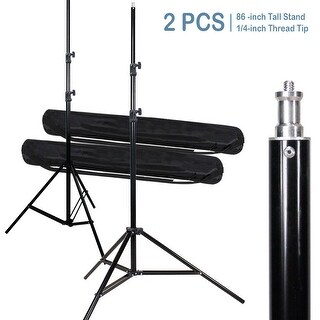 Lusana Studio 2 Pack of 86-inch Tall Photography Light Stand Tripod for Photo & Video