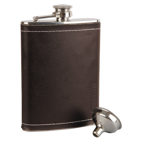 Coleman 2000016400 coleman 2000016400 flask leather 8oz tailgater