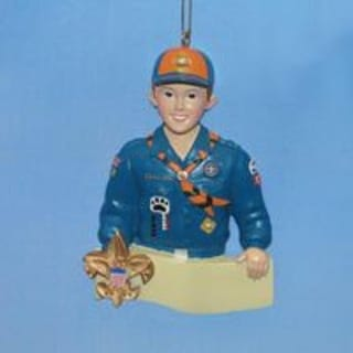 Club Pack of 12 Cub Scout Christmas Ornaments for Personalization 4""