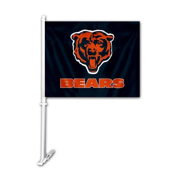 shop chicago bears car flag free shipping on orders over 45 22090518. Black Bedroom Furniture Sets. Home Design Ideas