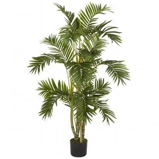 Nearly Natural 5336 4 in. Areca Palm Silk Tree