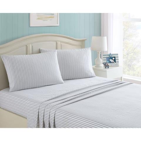 Taylor & Olive Alpine Blue Stripe Sheet Set