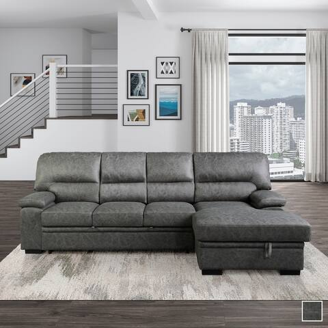 Apollo Sectional Sofa with Pull-Out Bed and Right Chaise