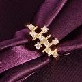 Horizontal Lined Gold Ring - Thumbnail 2