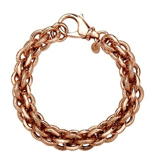 Triple Cable Bracelet in 18K Rose Gold Plate - Pink