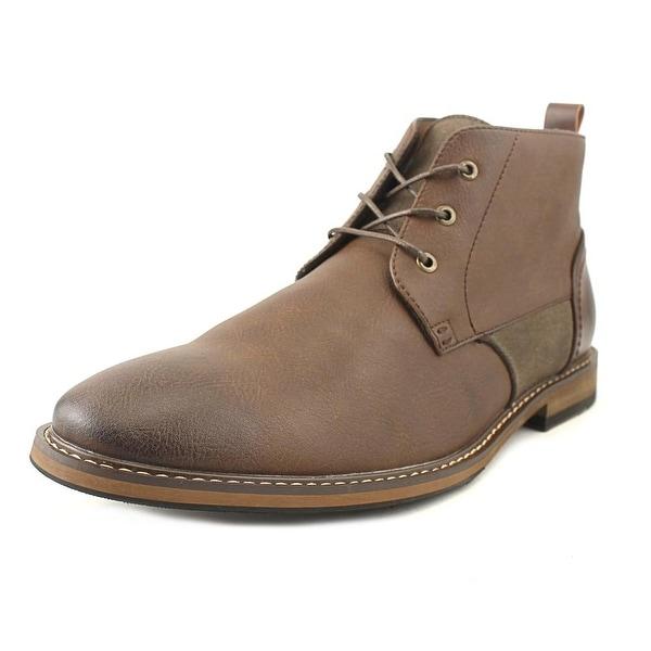Seven 91 Rochetta Men Round Toe Leather Brown Chukka Boot